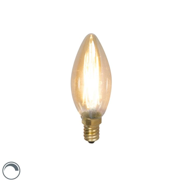 LED-kvēldiega-sveču-lampa-E14-240V-3,5-W-200lm-regulējama