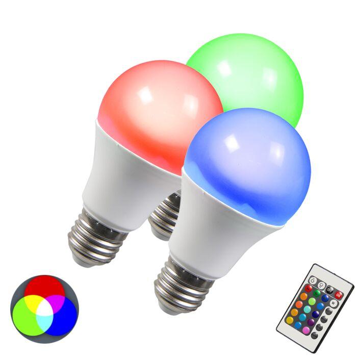 LED-spuldze-RGB-E27-3W-3-komplekti