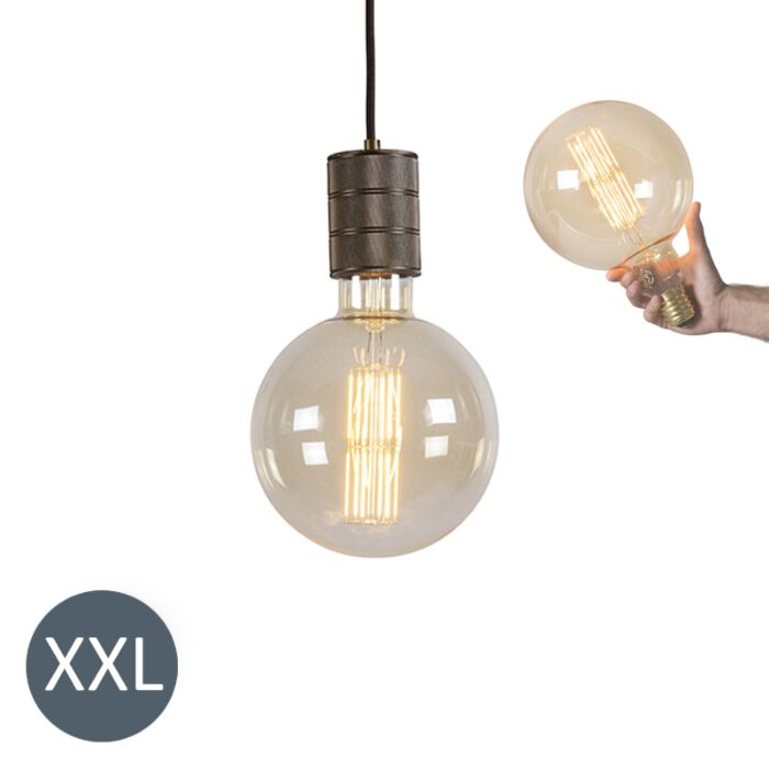 Piekaramā-lampa-bronzas-Megaglobe-ar-regulējamu-LED-lampu