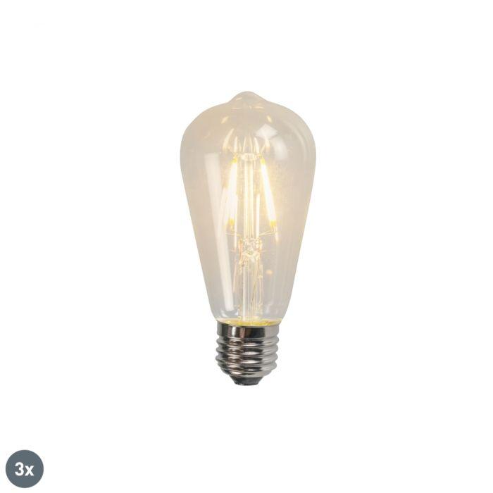 3-E27-LED-kvēlspuldžu-komplekts-ST64-4W-470LM-2700K