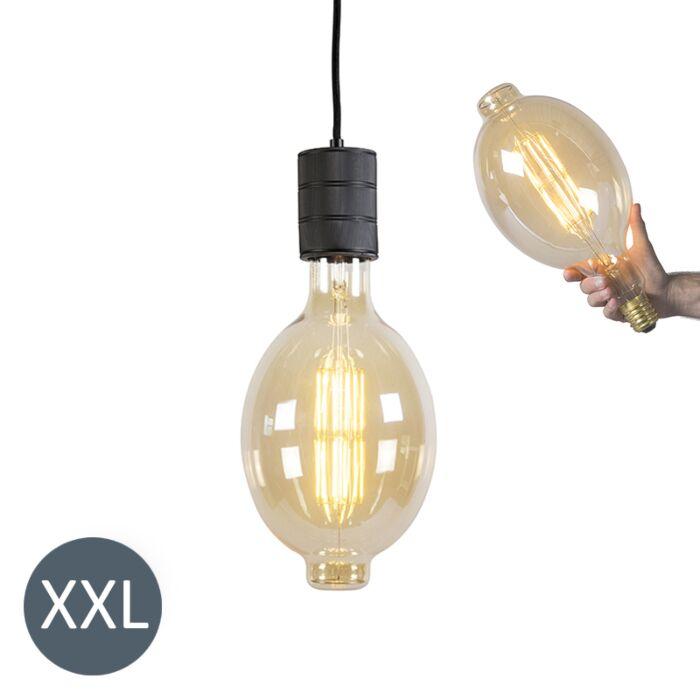 Piekaramā-lampa-Colosseum-melna-ar-regulējamu-LED-lampu
