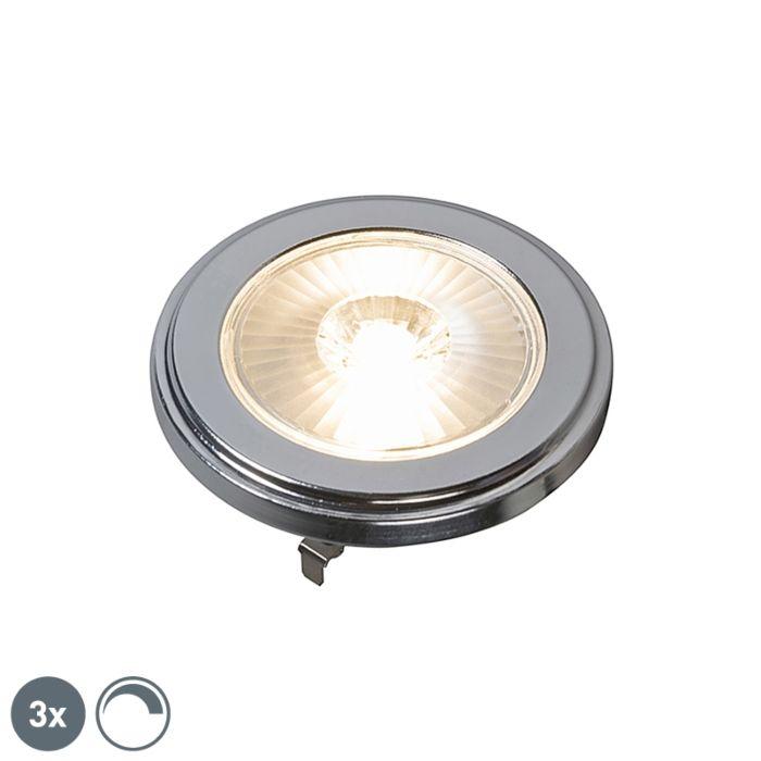 3-G53-regulējamo-AR111-LED-lampu-komplekts-10W-800LM-3000K