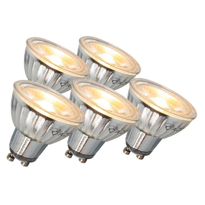 GU10-LED-lampa-7W-500LM-3000K-aptumšojams-5-komplekts