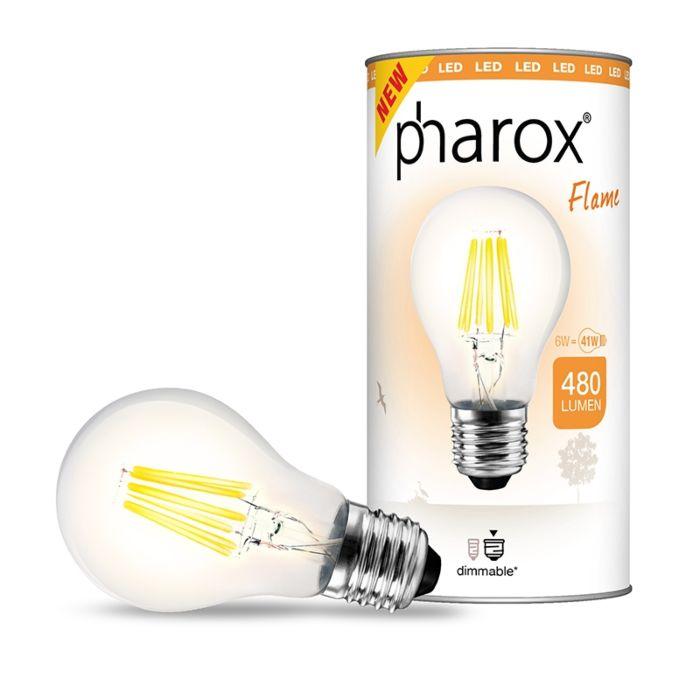 Pharox-LED-lampa-Flame-E27-6W-480-lūmeni