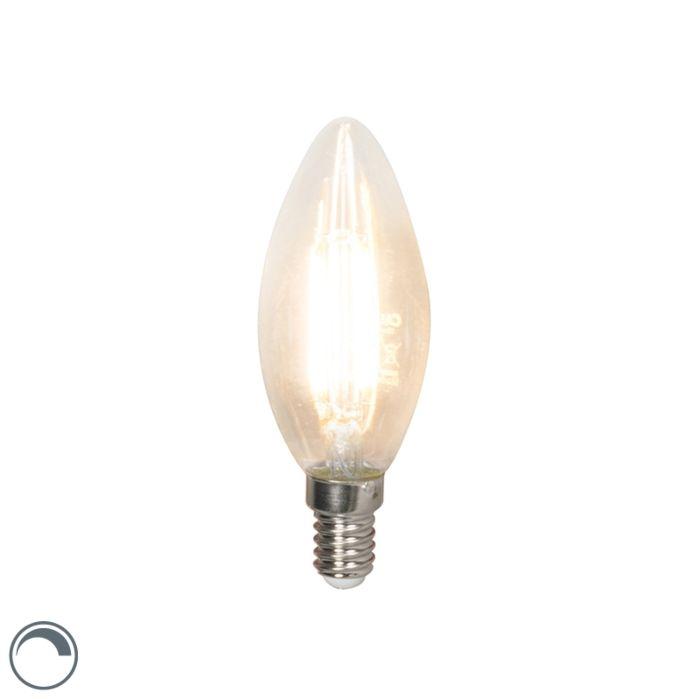 LED-kvēldiega-sveču-lampa-E14-240V-3,5-W-350lm-B35-regulējama