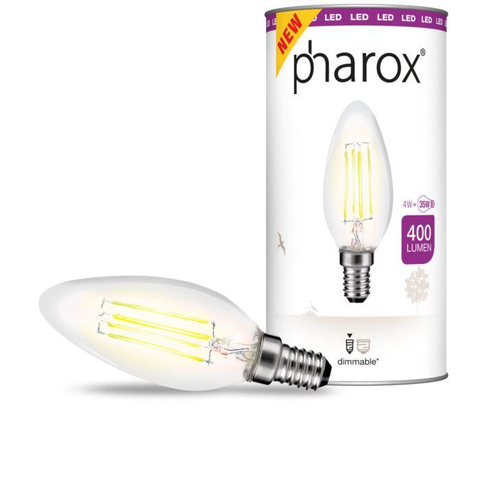 Pharox-LED-sveču-lampa-caurspīdīga-E14-4W-400-lūmeni