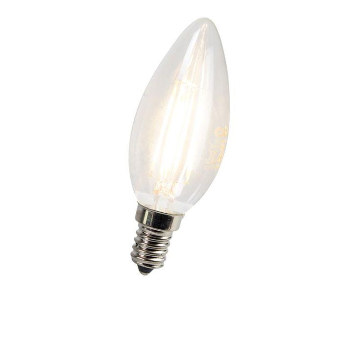 LED-kvēldiega-sveču-lampa-E14-3W-300-lūmeni