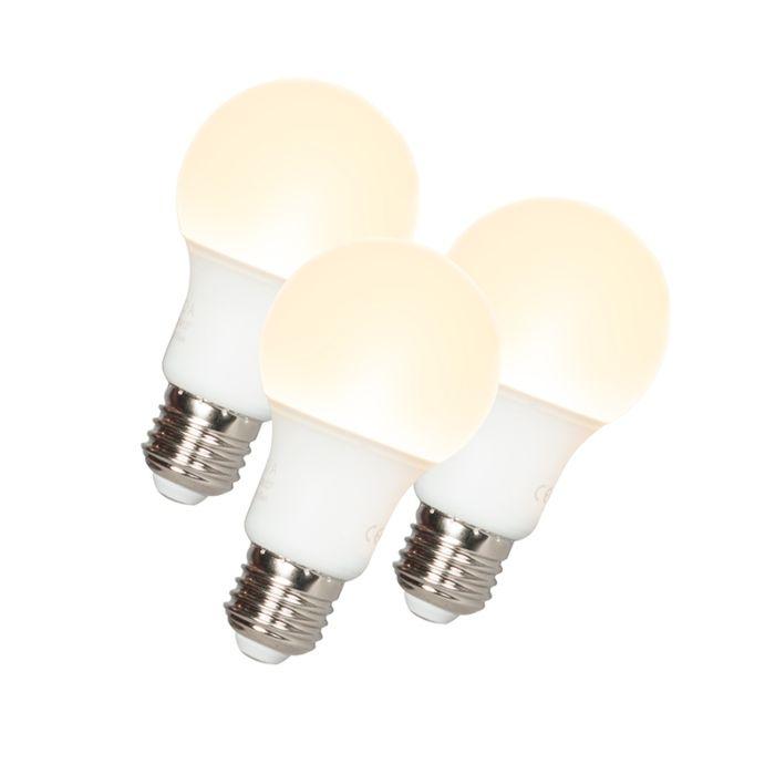 3-LED-lampu-komplekts-A60-E27-9W-3000K