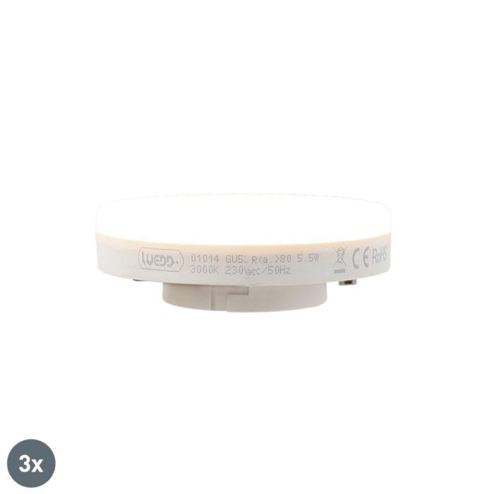 3-GX53-LED-lampu-komplekts-5,5W-470-lūmeni-3000K