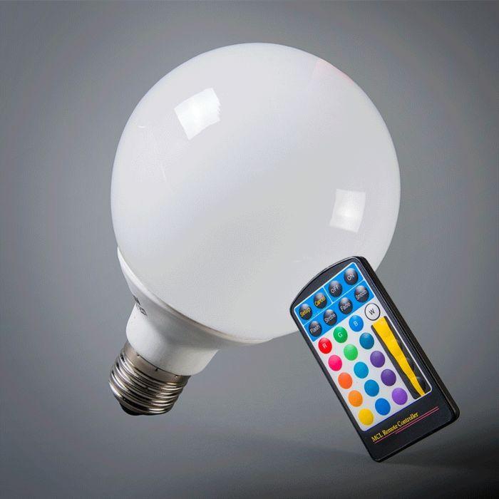 LED-globuss-E27-RGB-95mm-ar-tālvadības-pulti