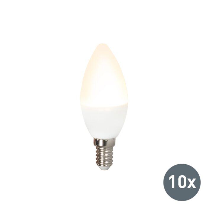 10-LED-lampas-komplekts-C37-E14-3W-3000K