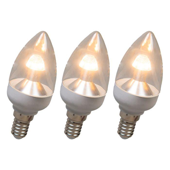 LED-sveču-lampa-E14-4W-250-lūmenu-silti-balta-Pielāgojams-3-komplekts