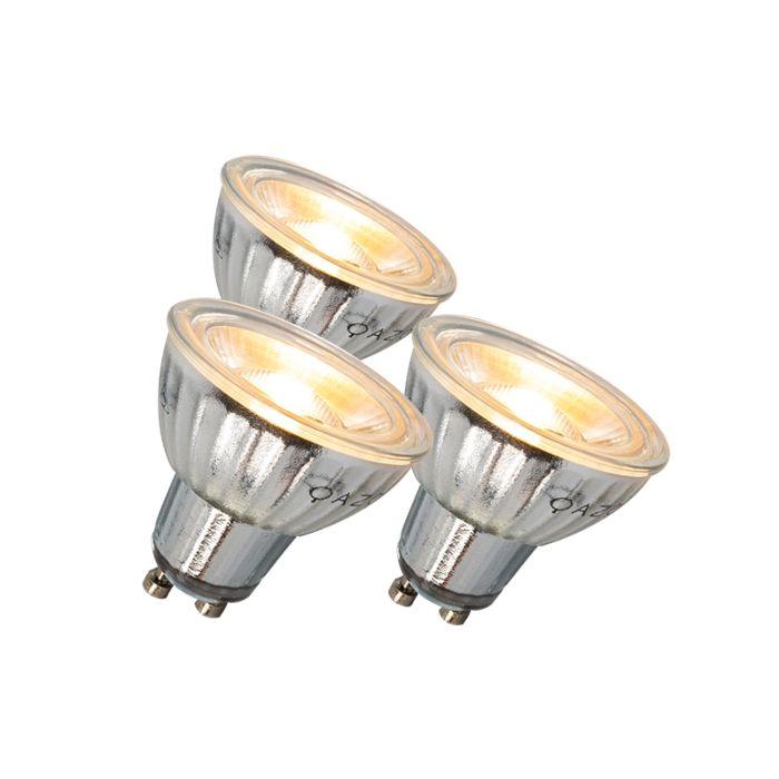 GU10-LED-lampa-7W-500LM-3000K-aptumšojams-3-komplekts