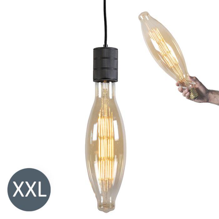 Piekaramā-lampa-Elips-melna-ar-regulējamu-LED-lampu