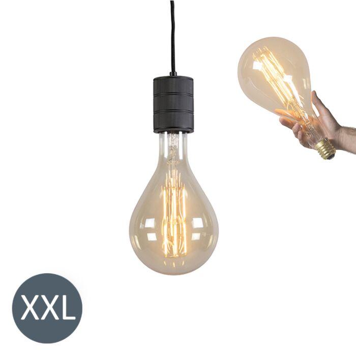 Piekaramā-lampa-Splash-black-ar-regulējamu-LED-lampu
