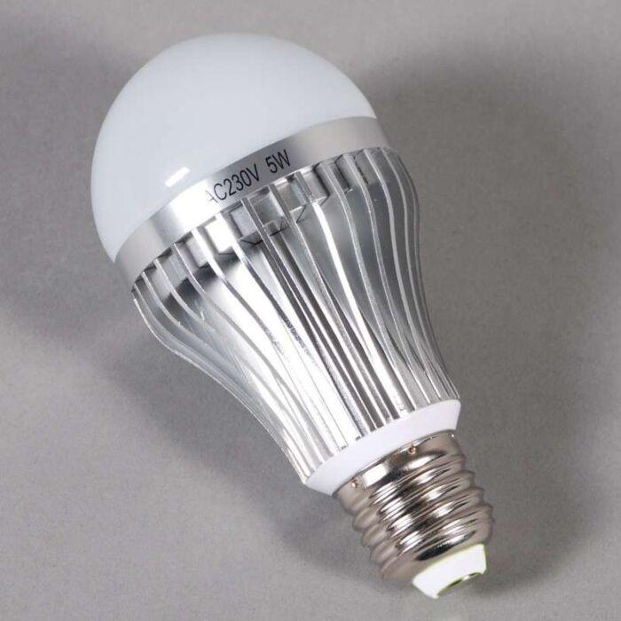 LED-kvēlspuldze-E27---5W-=-45W-gaisma