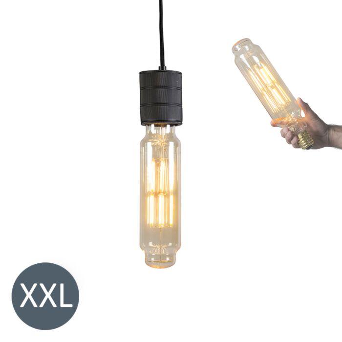 Piekaramā-lampa-Tornis-melns-ar-regulējamu-LED-lampu