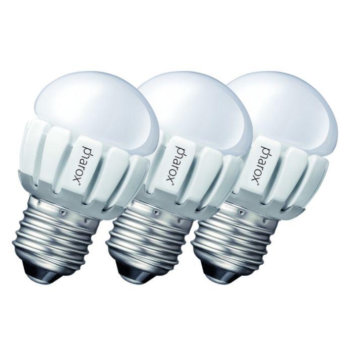 3-Pharox-LED-200-P45-E27-5W-230V-komplekts
