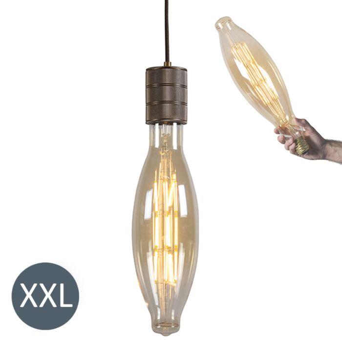 Piekaramā-lampa-Elips-bronza-ar-regulējamu-LED-lampu
