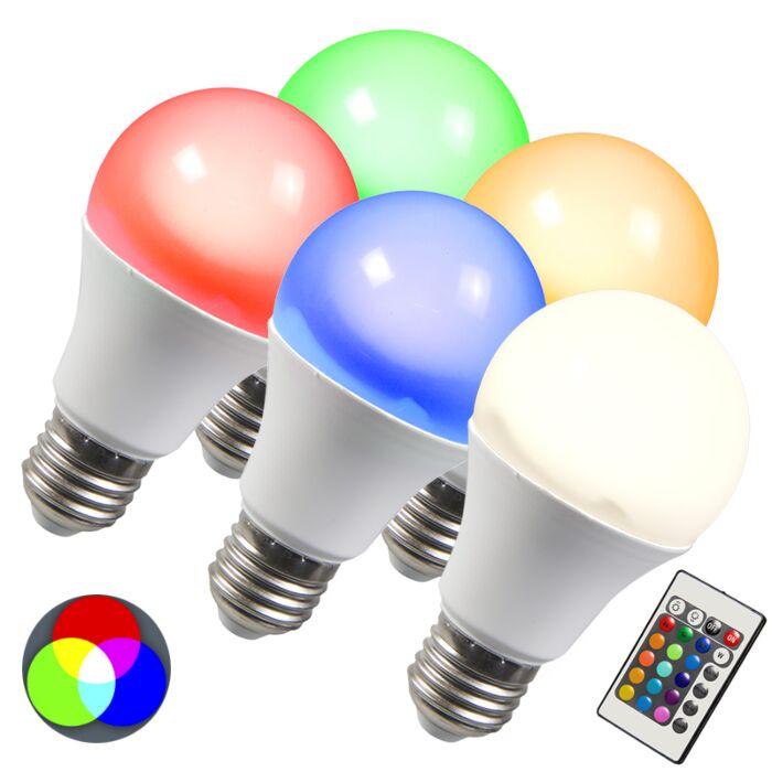 LED-spuldze-RGB-E27-3W-komplektā-ar-5