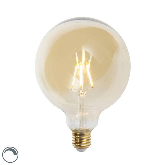 E27-aptumšojama-LED-kvēlspuldze-G125-goldline-360-lūmenu-2200K