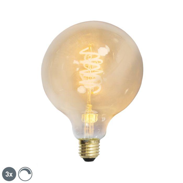 Komplektā-3-E27-aptumšojami-LED-vītā-pavediena-G125-zelta-līnija