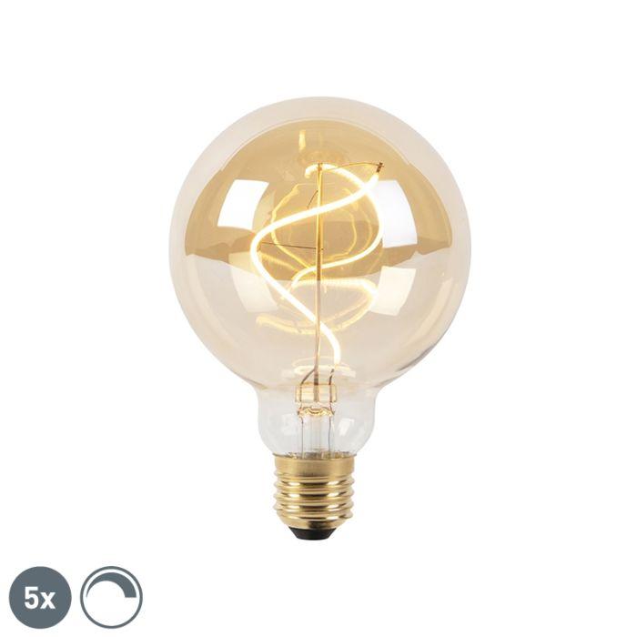 5-E27-regulējamo-LED-spirālveida-kvēlspuldžu-komplekts-G95-goldline