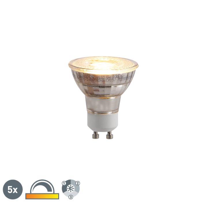 5-GU10-LED-lampu-komplekts-ar-trīspakāpju-aptumšošanu-Kelvin-5W