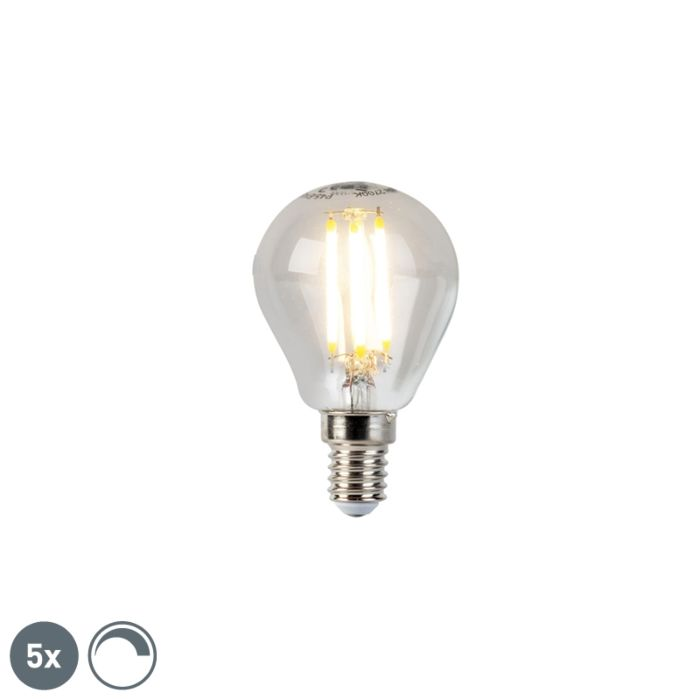 5-E14-regulējamo-LED-kvēlspuldžu-lodlampu-komplekts-5W-470lm-2700K