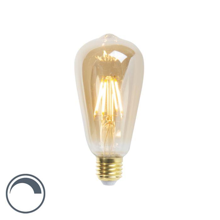 LED-kvēlspuldze-ST64-E27-5W-360-lūmenu-2200K-aptumšojama