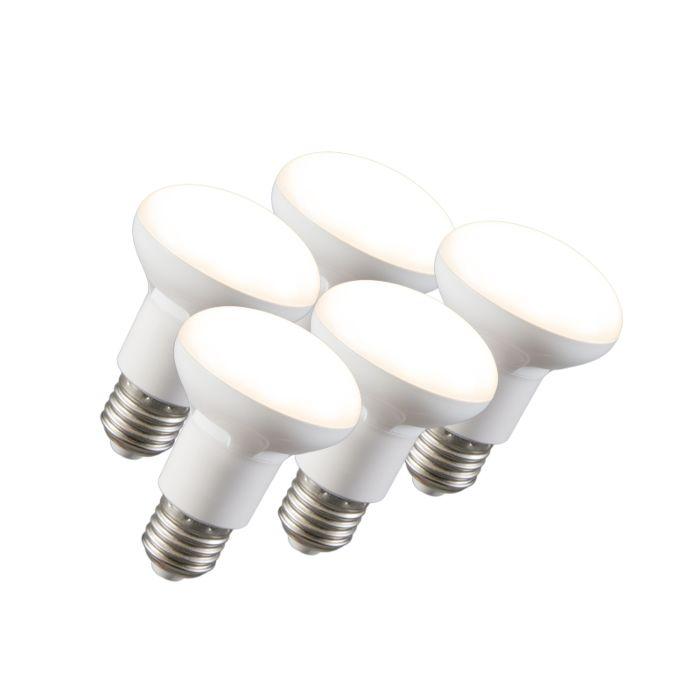 5-LED-atstarotāju-lampu-komplekts-R63-E27-240V-8W-2700K-aptumšojams