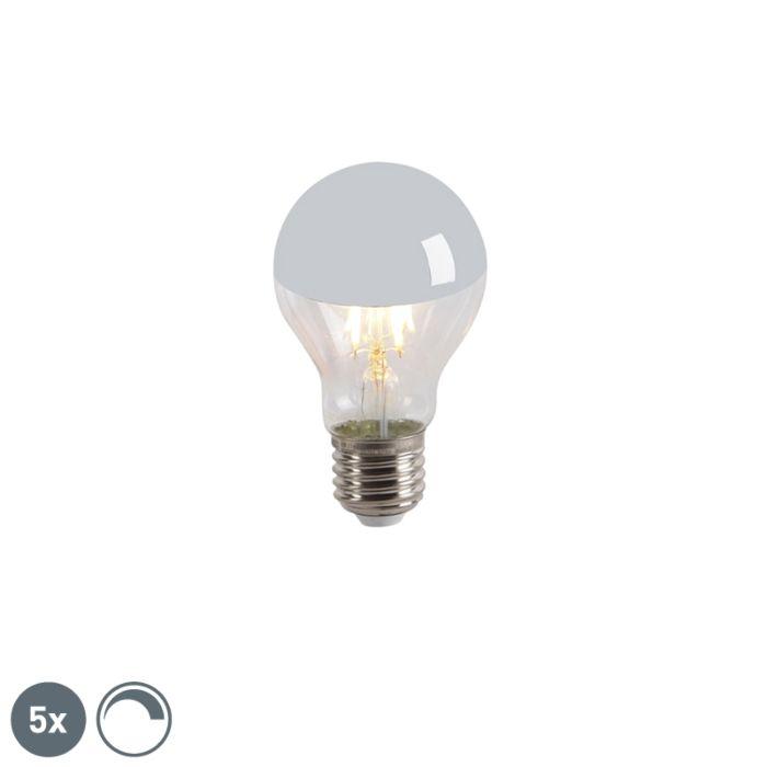 5-LED-kvēlspuldzes-galvas-spoguļa-komplekts-E27-240V-4W-300lm-A60-regulējams