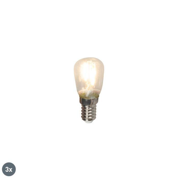 3-E14-LED-kvēldiega-sadales-spuldžu-komplekts-T26-1W-100lm-2700-K.
