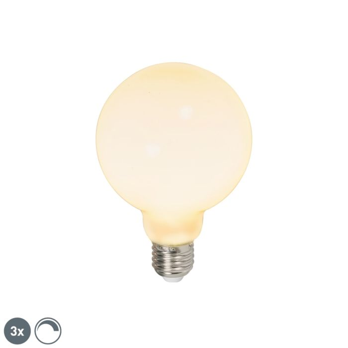3-LED-globusa-spuldžu-komplekts-E27-240V-6W-650lm-regulējams