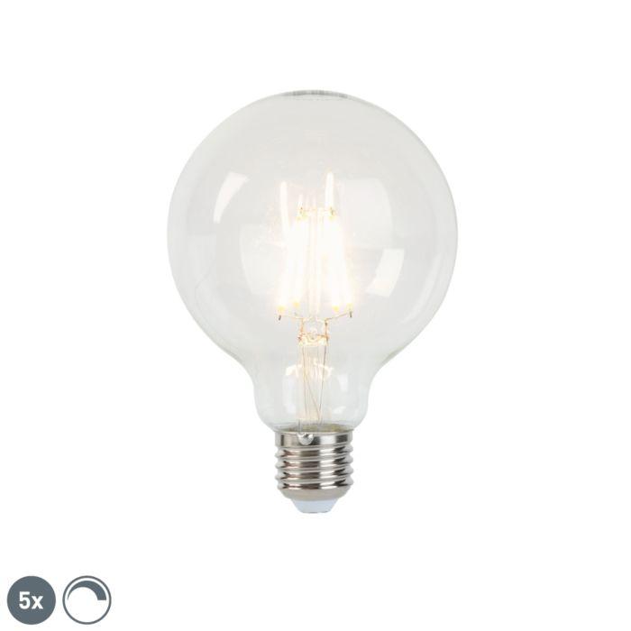 5-E27-regulējamo-LED-kvēlspuldžu-komplekts-G95-5W-470-lm-2700K