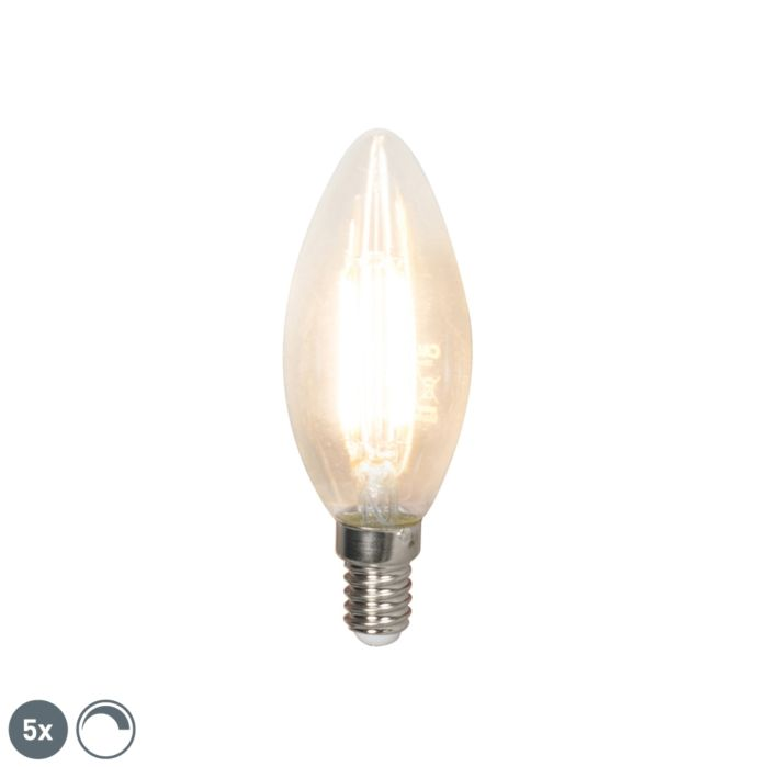 5-E14-regulējamo-LED-kvēldiega-sveču-lampu-komplekts-350-lm-2700K