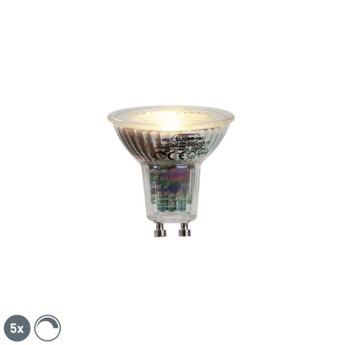5-GU10-LED-lampu-komplekts-6W-450lumen-2700K-aptumšojams
