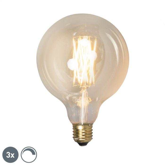 3-E27-regulējamo-LED-lampu-komplekts-G125-goldline-320lm-2100-K.