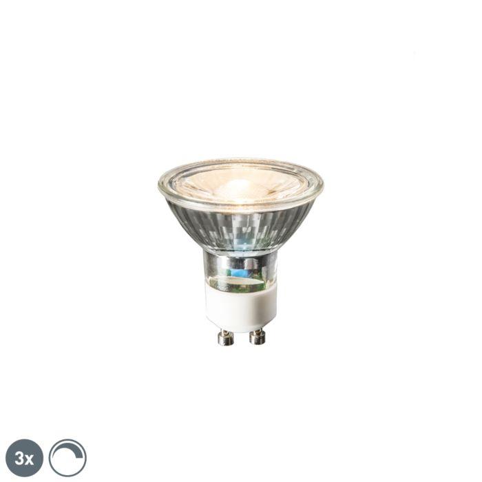 3-GU10-LED-lampu-komplekts-6W-450-lūmenu-2700K-aptumšojams