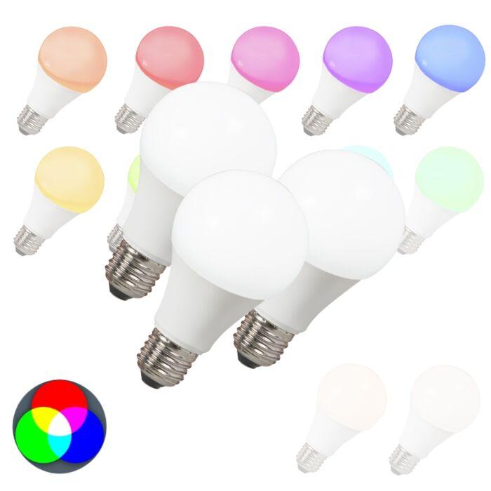 3-LED-spuldžu-komplekts-E27-240V-7W-500lm-A60-Smart-Light
