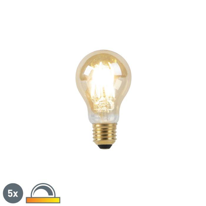 5-E27-LED-lampu-komplekts-8W-2000-2600K-blāvi-līdz-siltai-zelta-līnijai