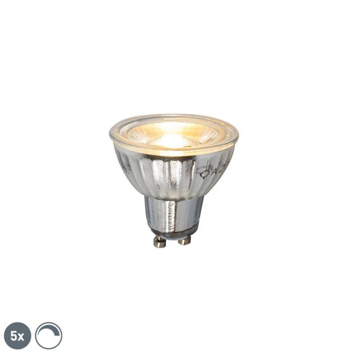 5-GU10-regulējamo-LED-lampu-komplekts-7W-500LM-2700K
