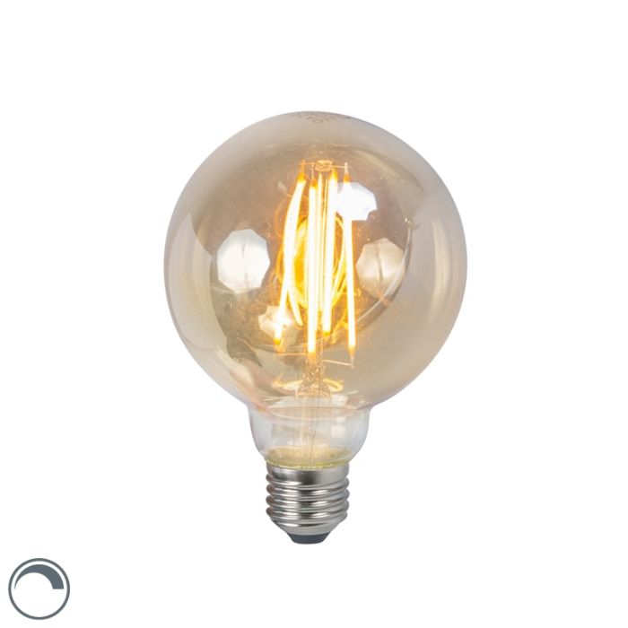 LED-kvēlspuldze-E27-5W-2200K-G95-dūmu-regulējama