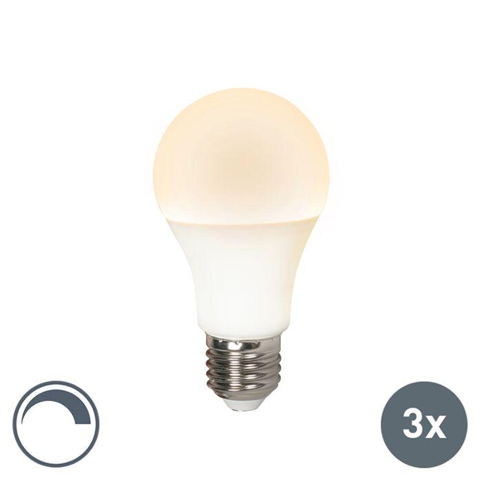 3-LED-lampu-komplekts-E27-240V-10W-810lm-A60-aptumšojams