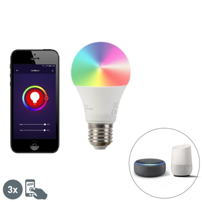 Viedais-komplekts-ar-3-E27-aptumšojamām-LED-lampām-A60-9W-800-lm-2200-4000K