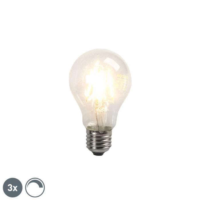 3-LED-kvēlspuldžu-komplekts-E27-4W-390lm-regulējams