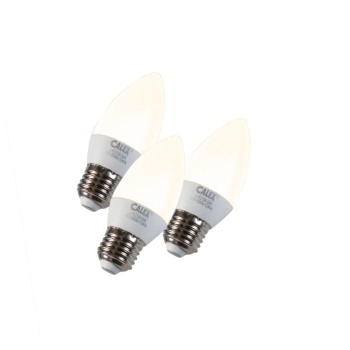 3-sveču-lampu-komplekts-LED-E27-5W-240V-2700K-aptumšojams