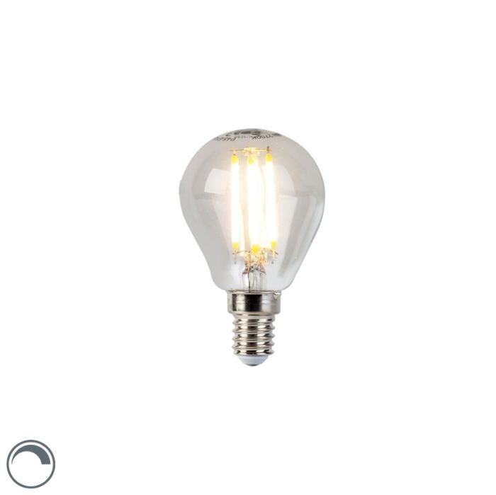 LED-kvēlspuldžu-lampa-E14-5W-470lm-P45-regulējama
