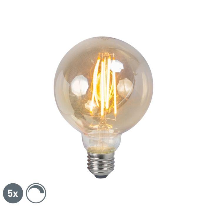 5-E27-regulējamo-LED-kvēldiega-dūmu-lampu-komplekts-5W-450lm-2200K