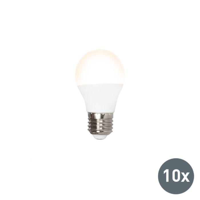 10-LED-lampu-komplekts-P45-E27-3W-3000K